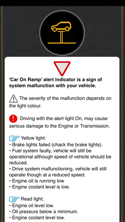 Warning Lights For Mini Cooper screenshot-5
