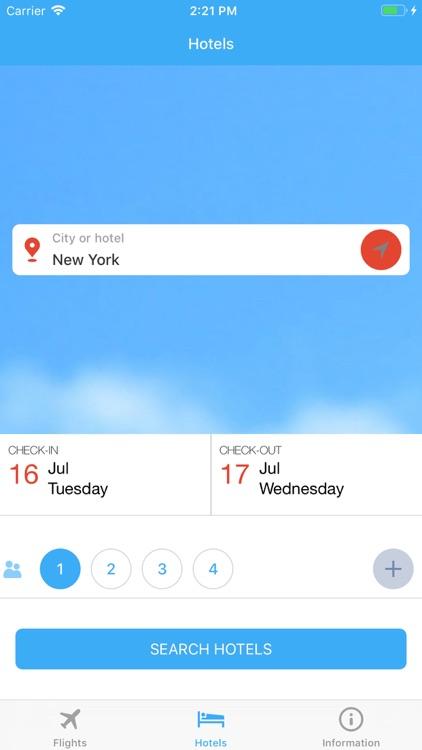 Flight tickets & Search hotel screenshot-4