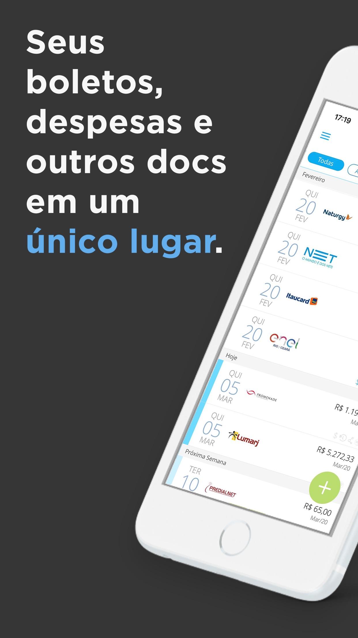 Screenshot do app papelada - controle de contas