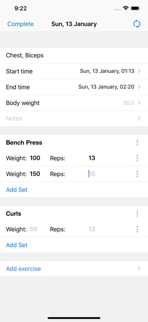 Gym Assistant Fitness Workouts Screenshot