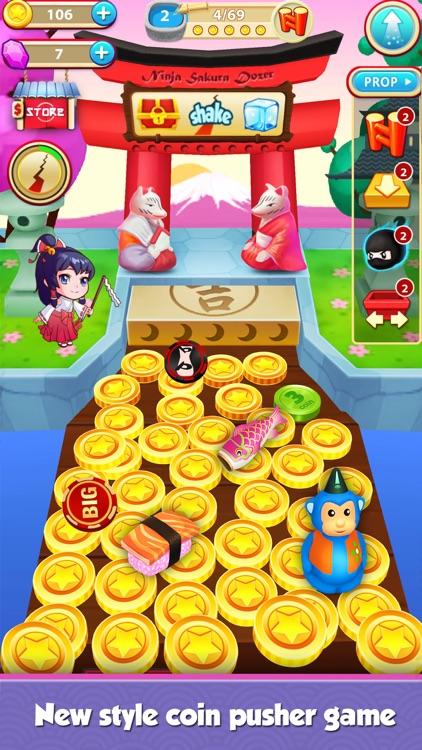 Coin Mania: Ninja Sakura Dozer screenshot-4