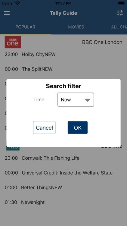 Tellyguide UK TV listings screenshot-3