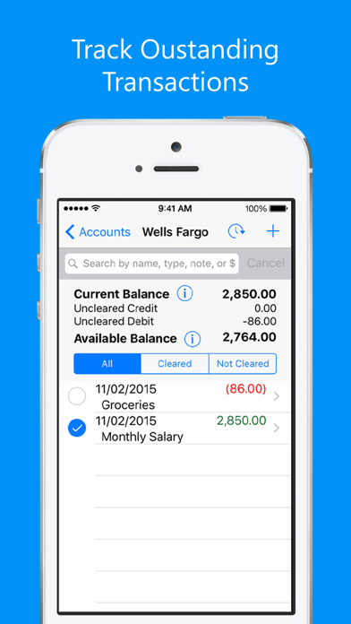 Balance My Checkbook FREE, Check Register With Sync screenshot