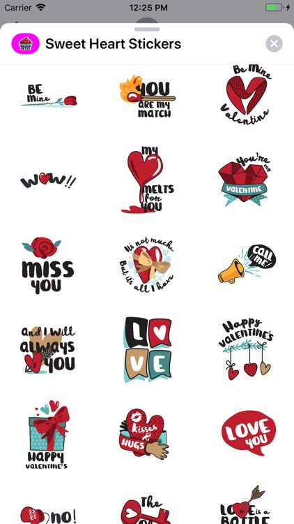 Sweet Heart Stickers Pack