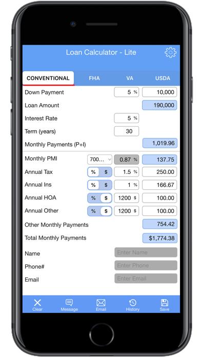 Loan Calculator | PMI- LiteScreenshot of 2