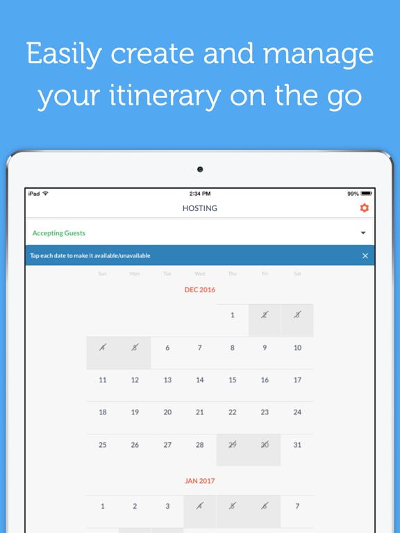 Couchsurfing Travel App iPad app afbeelding 4