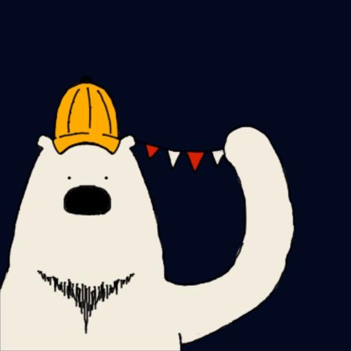 Happy Polar Bear Face Sticker