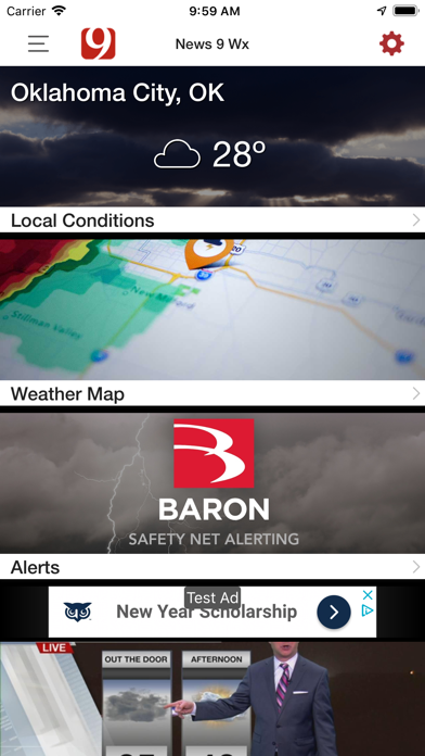 News 9 Weather review screenshots