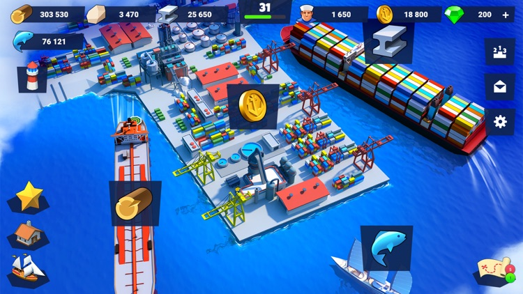 Sea Port: City Ship Tycoon