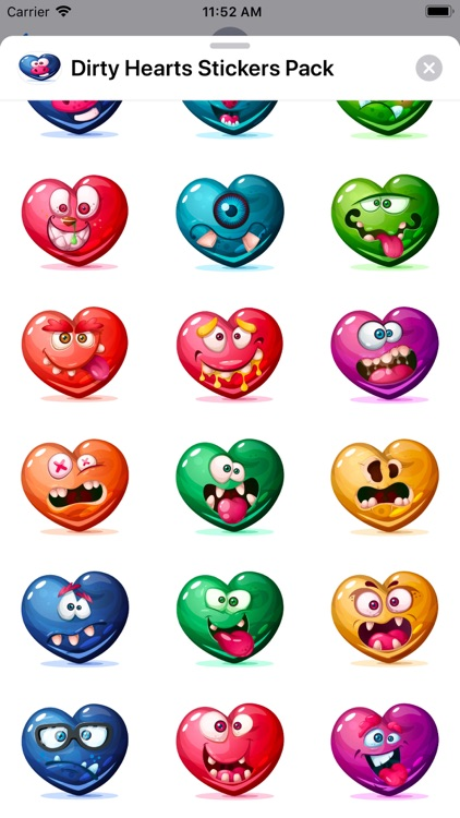 Dirty Hearts Stickers Pack