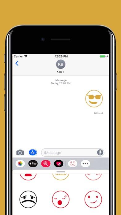 Funny smiley emojis stickers screenshot 5