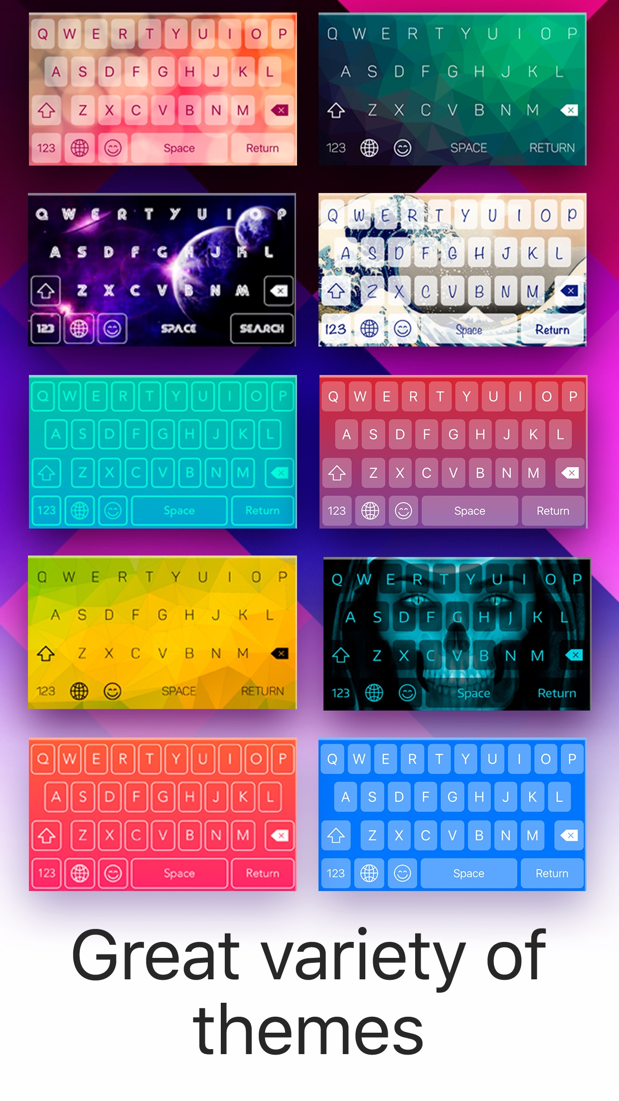 Color Keyboard: Themes & Skins Screenshot