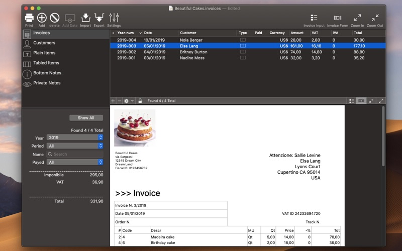 Invoices 3 for Mac