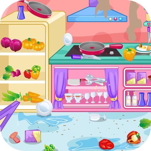 Уборка кухни ресторана