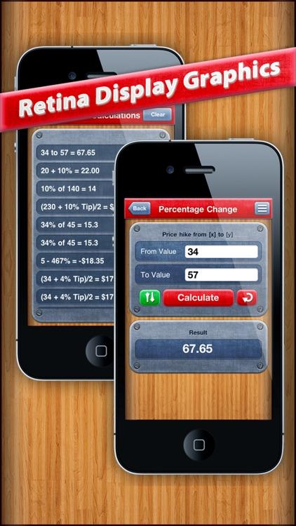 7 in 1 : Percentage Calculator screenshot-3