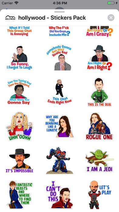 Screenshot of Hollywood - Stickers Pack App