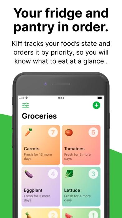 Kiff: Food expiration tracker Screenshot