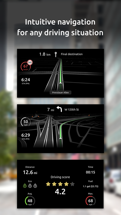 Hudway Go: Navigation with HUD Screenshot