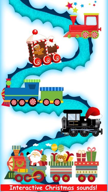 Christmas Train Snowman Games screenshot-5