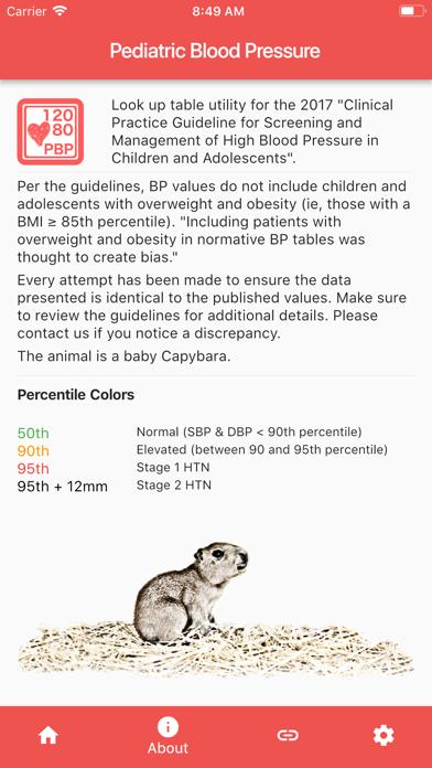 Pediatric Blood Pressure Guide Screenshots