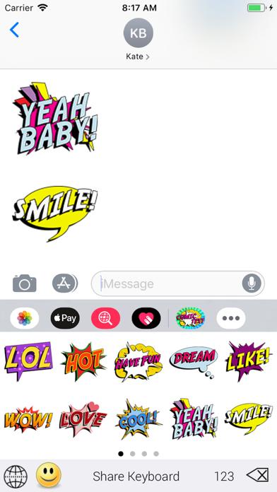 Screenshot for SlangMOJI - Comic Text Emojis in United States App Store