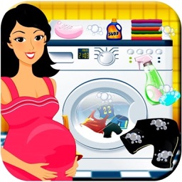 Pregnant Mom Baby Care Laundry