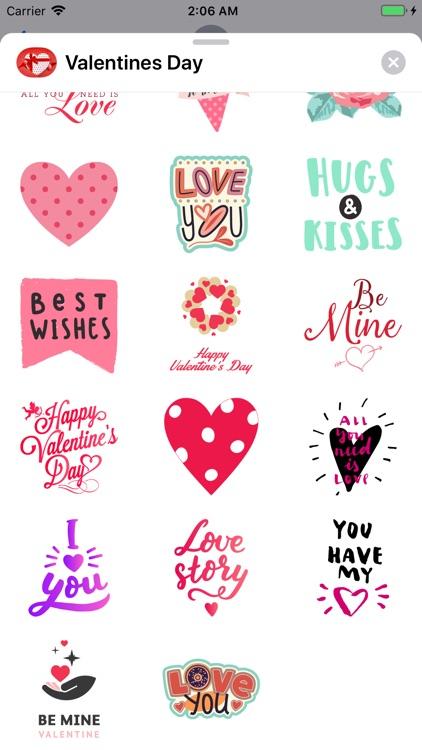 Valentines Day Text Stickers screenshot-3