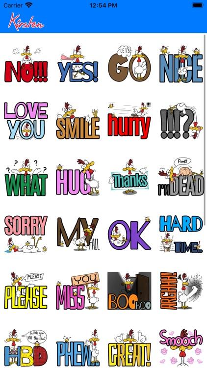 Stickers: Kirsten's Tweet