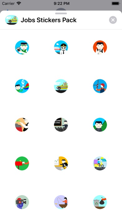 Screenshot for Jobs Stickers Pack in Indonesia App Store