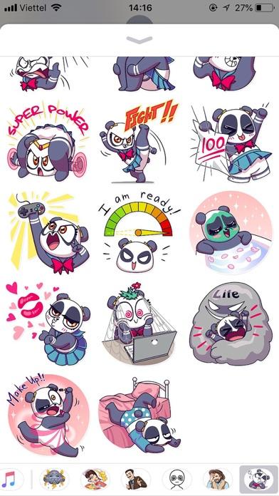 Cute Panda Pun Funny Stickers screenshot 3