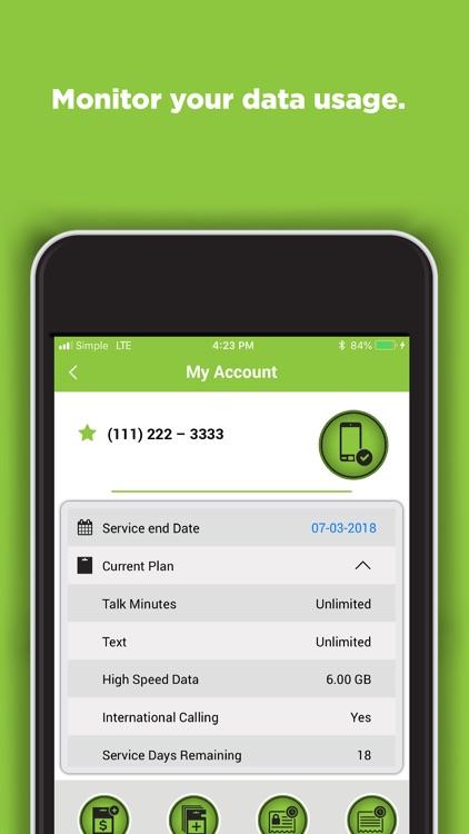 SIMPLE Mobile My Account screenshot-5