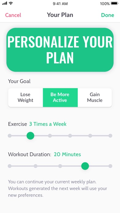 30 Day Fitness Challenge ∘ Screenshot