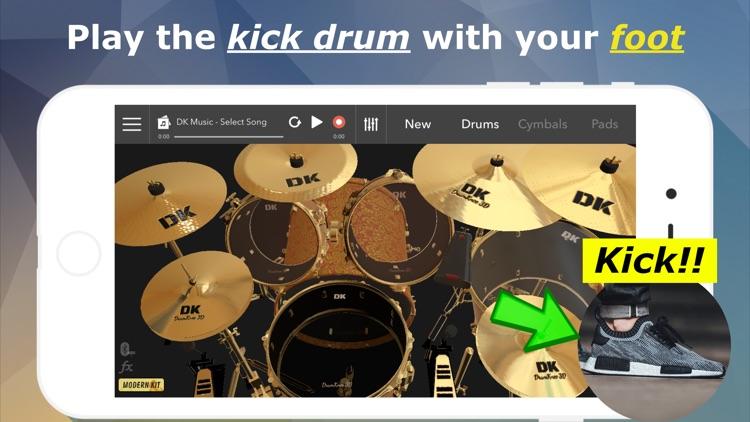 DrumKnee Drums 3D - Drum set screenshot-0