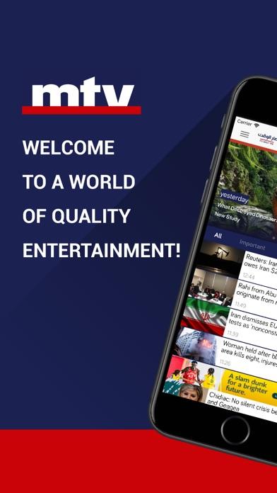 Screenshot for mtv Al Lubnaniya in Lebanon App Store