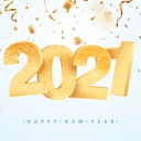 2021 – Happy New Year Sticker