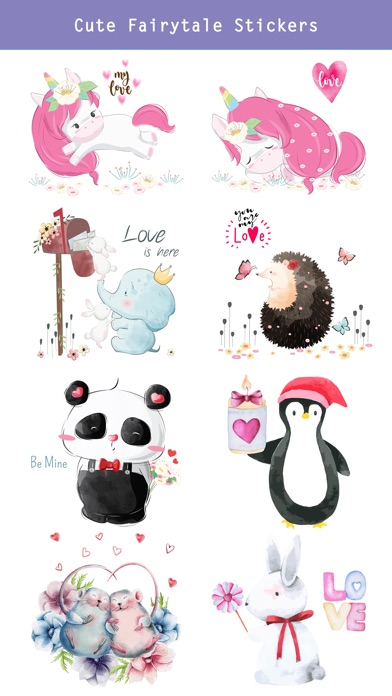 Fairytale Love Stickers screenshot 3