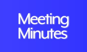 Meeting minutes.