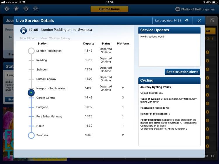 NationalRailEnquiries for iPad screenshot-3