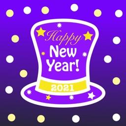 2021 Happy New Year Stickers.