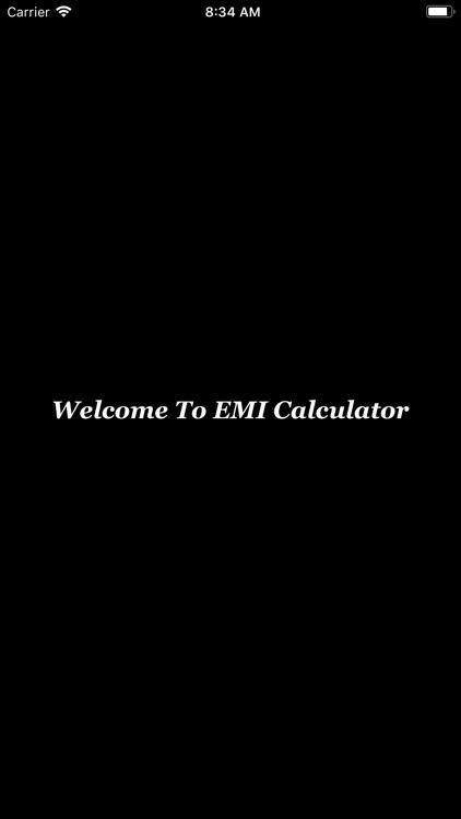 EMI Calculator check interest