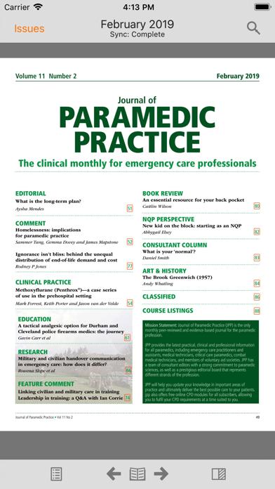 Journal of Paramedic Practice screenshot 2