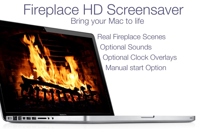 Fireplace Live HD+ Screensaver Screenshots
