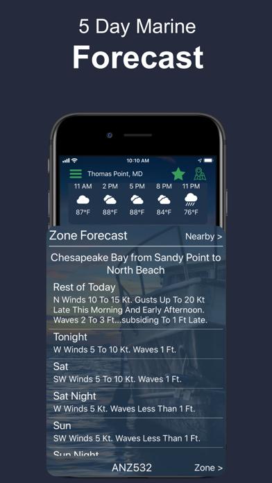 Buoycast: NOAA Marine Forecast Screenshot