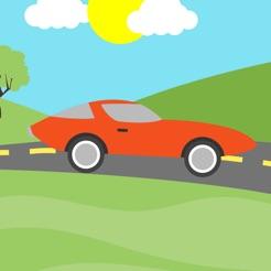 Cruz de estrada de carro