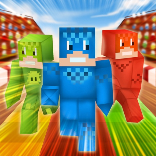 Pixel Run: Crafty Mask Heroes