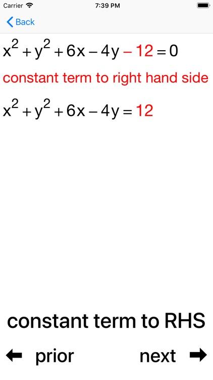 Circles and Equations