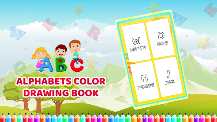 Alfabets Colour Drawing Book