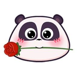 Cute Panda Head Emoji Stickers