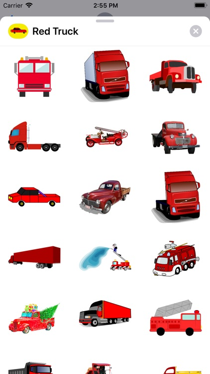 Red Truck Stickers