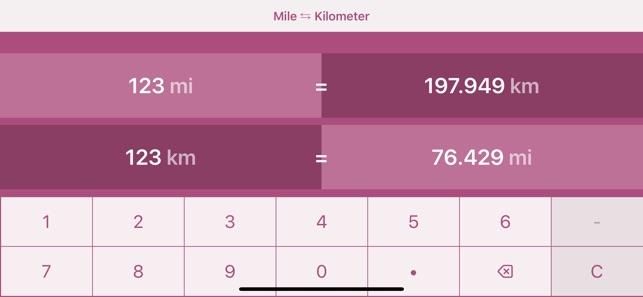 Miles To Kilometres Mi Km 4